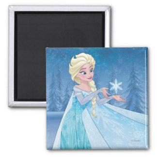 ¡Elsa el | lo dejó ir! Imán Cuadrado