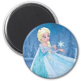 ¡Elsa el | lo dejó ir! Imán Redondo 5 Cm