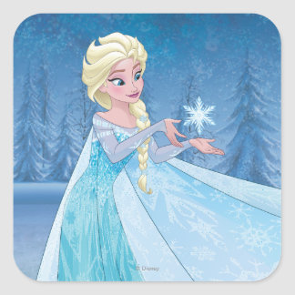¡Elsa el   lo dejó ir! Pegatina Cuadrada