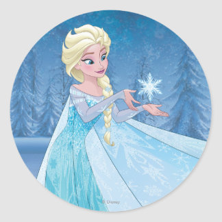 ¡Elsa el   lo dejó ir! Pegatina Redonda