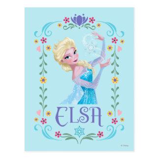 Elsa el | mis poderes es fuerte tarjetas postales