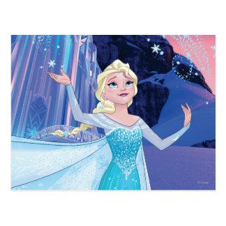 Elsa el | que chispea, hielo elegante postal