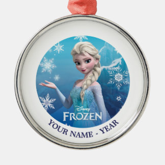 Elsa   Holding Hand Out Add Your Name Metal Ornament
