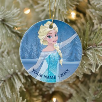 Elsa | In Winter Forest Add Your Name Ceramic Ornament