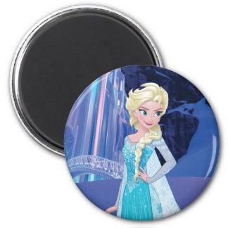 Elsa - invierno eterno imán redondo 5 cm