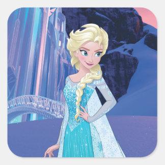 Elsa - invierno eterno pegatina cuadrada