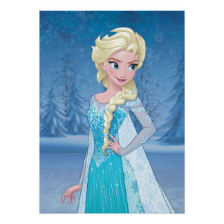 Elsa - invierno eterno póster