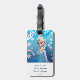 Elsa la reina de la nieve etiqueta de equipaje