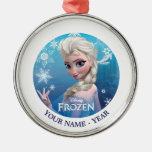 Elsa la reina de la nieve personalizada ornamento para reyes magos