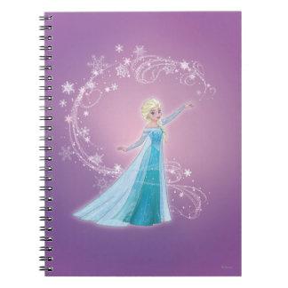 Elsa - los deshielos del amor, amor brillan spiral notebooks