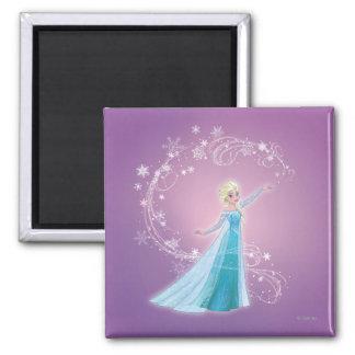Elsa - los deshielos del amor, amor brillan imán cuadrado