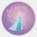 Elsa - los deshielos del amor, amor brillan etiquetas redondas