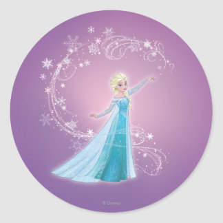 Elsa - los deshielos del amor, amor brillan pegatina redonda