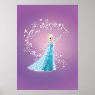 Elsa - los deshielos del amor, amor brillan póster