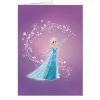 Elsa - los deshielos del amor, amor brillan tarjeta de felicitación