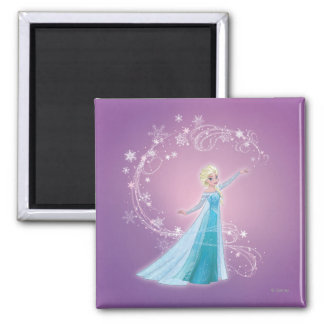 Elsa - Love Thaws, Love Glows 2 Inch Square Magnet