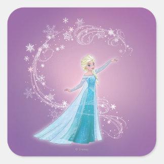 Elsa - Love Thaws, Love Glows Square Sticker