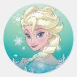 Elsa - magia del invierno etiquetas redondas
