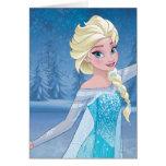 Elsa - magia del invierno felicitacion