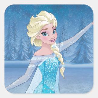 Elsa - magia del invierno pegatina cuadrada