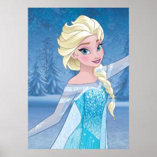Elsa - magia del invierno póster
