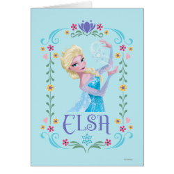 Greeting Card with Elsa the Snow Queen's Powers Are Strong design