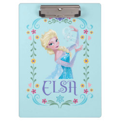 Clipboard with Elsa the Snow Queen's Powers Are Strong design
