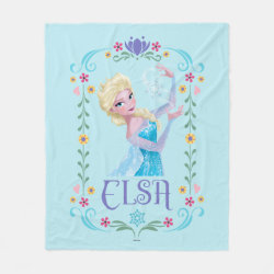 Fleece Blanket, 50'x60' with Elsa the Snow Queen's Powers Are Strong design