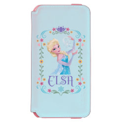 Incipio Watson™ iPhone 6 Wallet Case with Elsa the Snow Queen's Powers Are Strong design