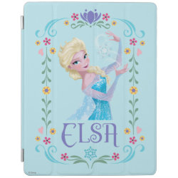 iPad 2/3/4 Cover with Elsa the Snow Queen's Powers Are Strong design