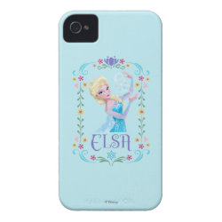 Case-Mate iPhone 4 Barely There Universal Case with Elsa the Snow Queen's Powers Are Strong design