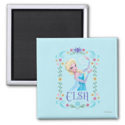 Square Magnet with Elsa the Snow Queen's Powers Are Strong design
