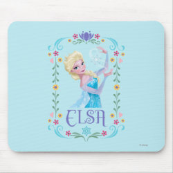 Mousepad with Elsa the Snow Queen's Powers Are Strong design