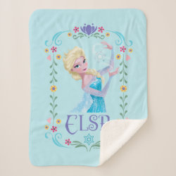 Sherpa Blanket with Elsa the Snow Queen's Powers Are Strong design