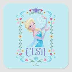 Square Sticker with Elsa the Snow Queen's Powers Are Strong design
