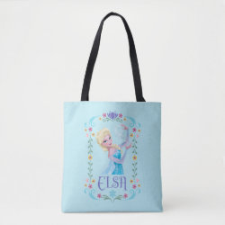 All-Over-Print Tote Bag, Medium with Elsa the Snow Queen's Powers Are Strong design