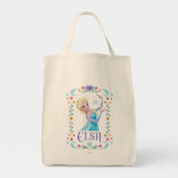Grocery Tote with Elsa the Snow Queen's Powers Are Strong design