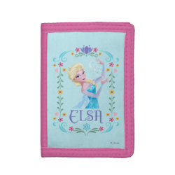 TriFold Nylon Wallet with Elsa the Snow Queen's Powers Are Strong design