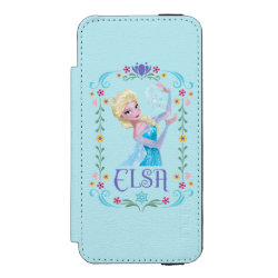 Incipio Watson™ iPhone 5/5s Wallet Case with Elsa the Snow Queen's Powers Are Strong design