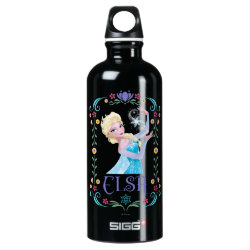 SIGG Traveller Water Bottle (0.6L) with Elsa the Snow Queen's Powers Are Strong design