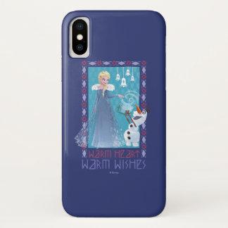 Elsa & Olaf   Warm Heart Warm Wishes iPhone X Case
