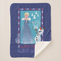 Elsa & Olaf | Warm Heart Warm Wishes Sherpa Blanket