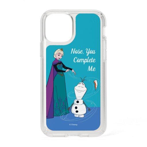 Elsa Permafrosting Olaf Speck iPhone 11 Pro Case