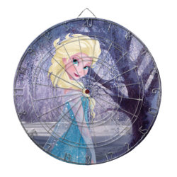 Megal Cage Dart Board with Frozen's Princess Elsa the Snow Queen design