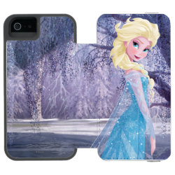 Incipio Watson™ iPhone 5/5s Wallet Case with Frozen's Princess Elsa the Snow Queen design