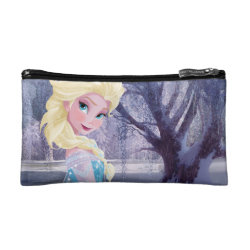 Small Cosmetic Bag with Frozen's Princess Elsa the Snow Queen design