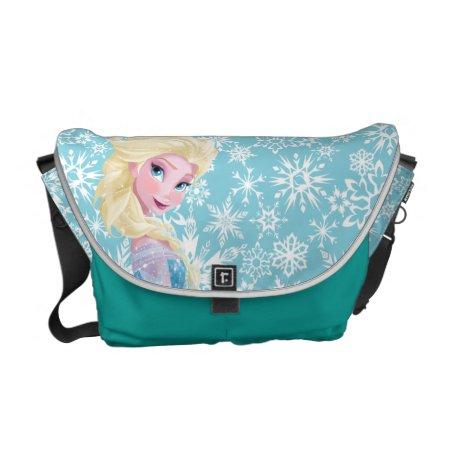 Elsa | Side Profile Standing Messenger Bag