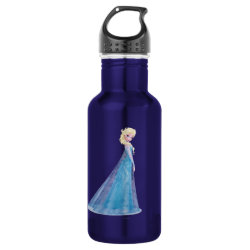 Water Bottle (24 oz) with Frozen's Princess Elsa the Snow Queen design