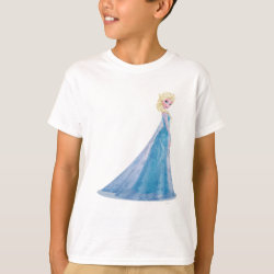 Kids' Hanes TAGLESS® T-Shirt with Frozen's Princess Elsa the Snow Queen design