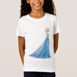 Girls' Fine Jersey T-Shirt with Frozen's Princess Elsa the Snow Queen design